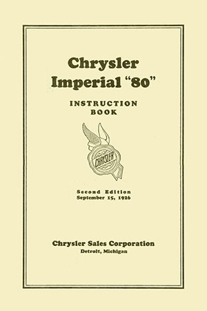 1927 Imperial Service Manual