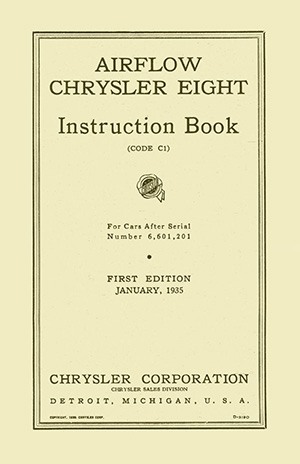 1935 Chrysler Airflow Manual