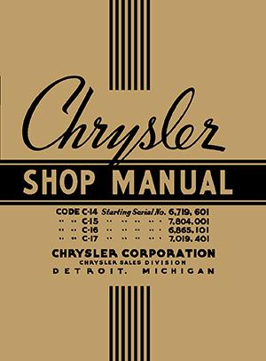 Chrysler Shop Manual - Chrysler shop
